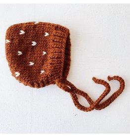 The Blueberry Hill Fairisle Bonnet Cinnamon