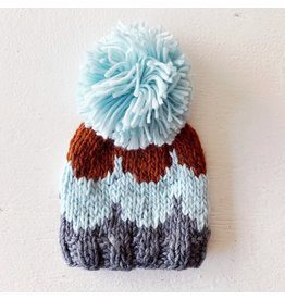 The Blueberry Hill Scallop Hat Gray, Blue, Cinnamon