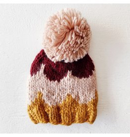 The Blueberry Hill Scallop Hat Pomegranate, Pink, Mustard