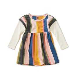 Tea Collection Striped Layered Sleeve Baby Dress - Festival Stripe