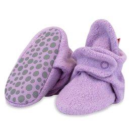 Zutano Cozie Fleece Gripper Bootie - Lilac
