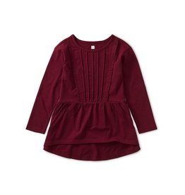 Tea Collection Pleated Pintuck Top - Boysenberry
