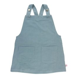 RuffleButts Corduroy Jumper Dress Slate