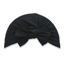 Baby Bling Bows Knot Beanie: Black