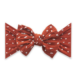 Baby Bling Bows Patterned Shabby Knot : Sienna Dot