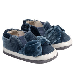 Robeez Mini Shoes, Bella's Bow Slate Velvet