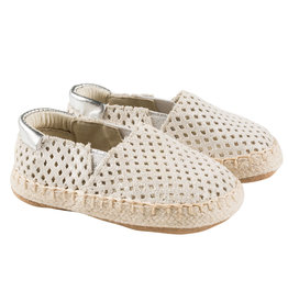 Robeez First Kicks, Ellie Espadrille Gold Shimmer