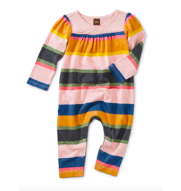 Tea Collection Striped Wrap Neck Romper Festival Stripe 9-12M