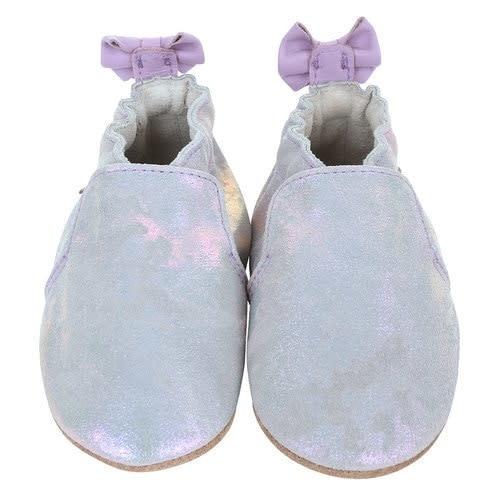 Robeez Soft Soles, Pretty Pearl Silver Iridescent 18-24M