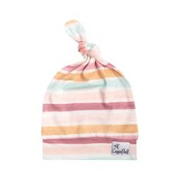 Copper Pearl Newborn Top Knot Hat, Belle