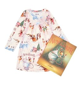 Books to Bed Nutcracker Nightgown and Book Set