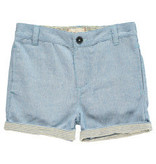 Me + Henry Blue Striped Turn Up Shorts 3-4Y