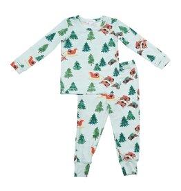 Angel Dear Two Piece Bison Holiday Pajama Set