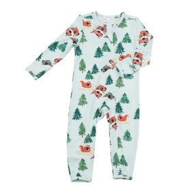 Angel Dear Bison Holiday Zip Coverall