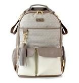 Itzy Ritzy Boss Diaper Bag Backpack Vanilla Latte