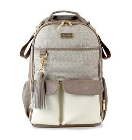 Itzy Ritzy Boss Diaper Bag Backpack Vanilla Latte