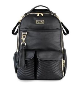 Itzy Ritzy Boss Diaper Bag Backpack Jetsetter Black