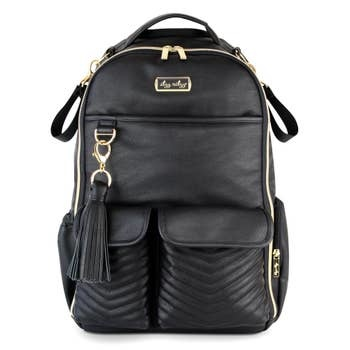 Itzy Ritzy Boss Diaper Bag Backpack Jetsetter Black