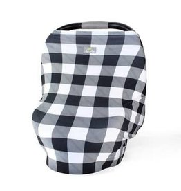 Itzy Ritzy Mom Boss 4 in 1 Cover, Black + White Gingham