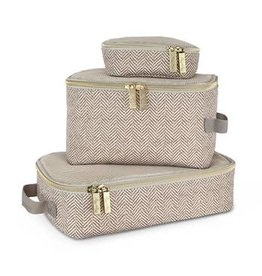 Itzy Ritzy Packing Cubes (Pack of 3) - Taupe