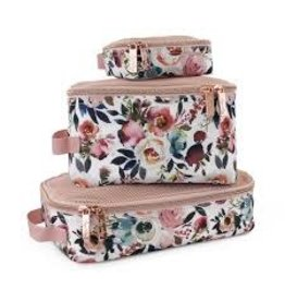 Itzy Ritzy Packing Cubes (Pack of 3) - Blush Floral