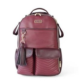 Itzy Ritzy Boss Diaper Bag Backpack Hello Merlot
