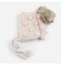 The Blueberry Hill Coco Bonnet Dusty Rose with Pom S 12-24m