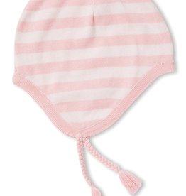 Angel Dear Knit Pilot Hat Pink Stripe