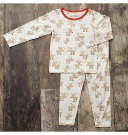 Bestaroo Two Piece ModalPajama Set Reindeer (Boys 2T-6Y)