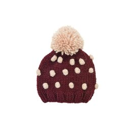 The Blueberry Hill Popcorn Hat - Pomegranate and Pink