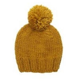 The Blueberry Hill Single Pom Hat - Mustard S 12-24m