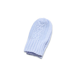 Angel Dear Cable Knit Mittens Light Blue