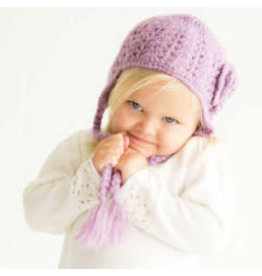 Huggalugs Lilac Lacy Flowered Earflap Hat 2-6yrs