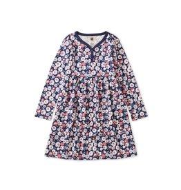Tea Collection Girls Henley Dress - Marigold