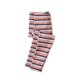 Tea Collection Baby Girl Striped Ribbed Baby Leggings - Stratus