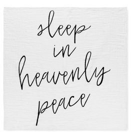 Modern Burlap Organic Cotton Muslin Swaddle - Sleep in Heavenly