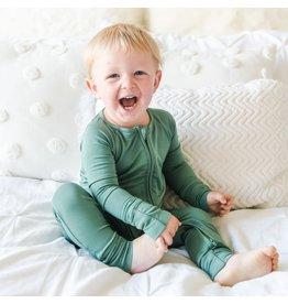 Little Sleepies Convertible Romper/Sleeper Moss Green
