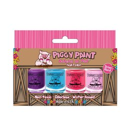 Piggy Paint Set, 4 Polish 3.5mL