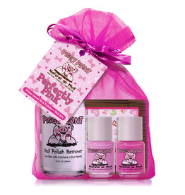 Piggy Paint Set, Perfectly Pink (remover + 2)