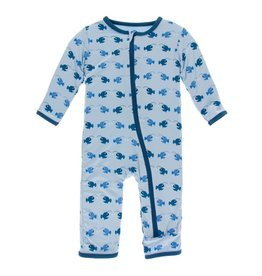 Kickee Pants Print Coverall with Zipper Pond Angler Fish