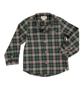 Me + Henry Green Plaid Shirt - Mens
