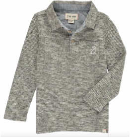 Me + Henry Green/Grey Stripe Polo, Mens