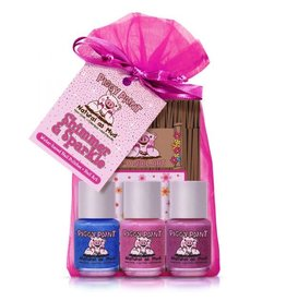 Piggy Paint Set, Shimmer and Sparkle Gift Set (3 and stickers)