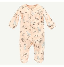 Oliver and Rain Sleep and Play Pima Cotton Pink Deer