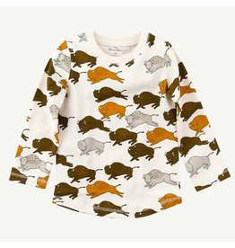 Oliver and Rain Infant LS Tee Buffalo