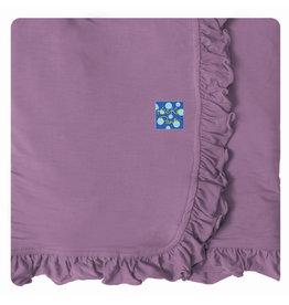 Kickee Pants Solid Ruffle Stroller Blanket Pegasus - One Size