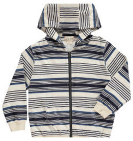 Me + Henry Blue Striped Hooded Top 5-6Y