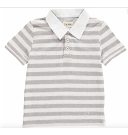 Me + Henry Grey Striped Polo Shirt 4-5Y