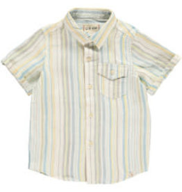 Me + Henry Yellow Striped Woven Linen Shirt 3-4Y