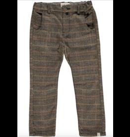 Me + Henry Brown Plaid Pants, Suspenders 5-6Y